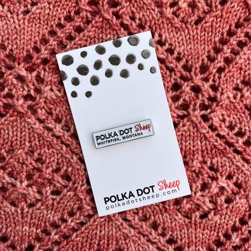 Polka Dot Sheep Whitefish, Montana enamel pin