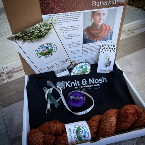 ButterKnit ~ Knit & Nosh Yarn Club Box 1