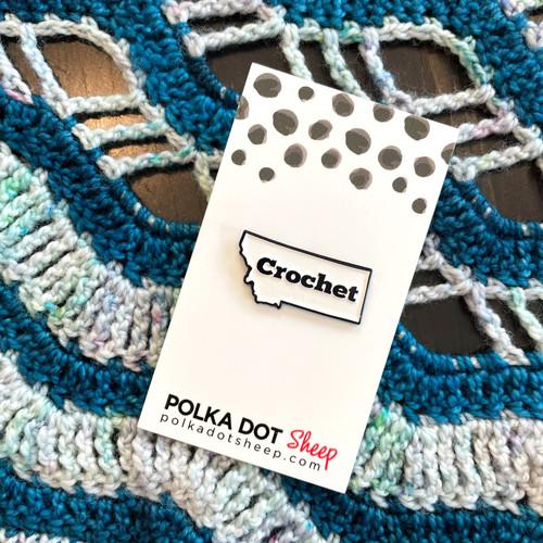 Crochet Montana Enamel Pin
