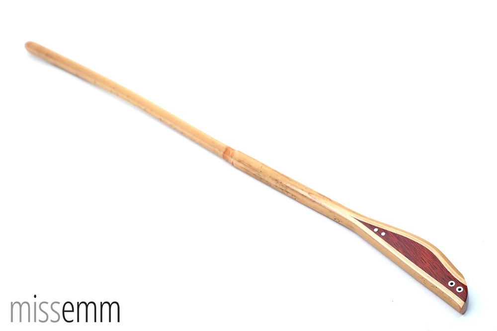 Rattan spanking cane with Bloodwood handle