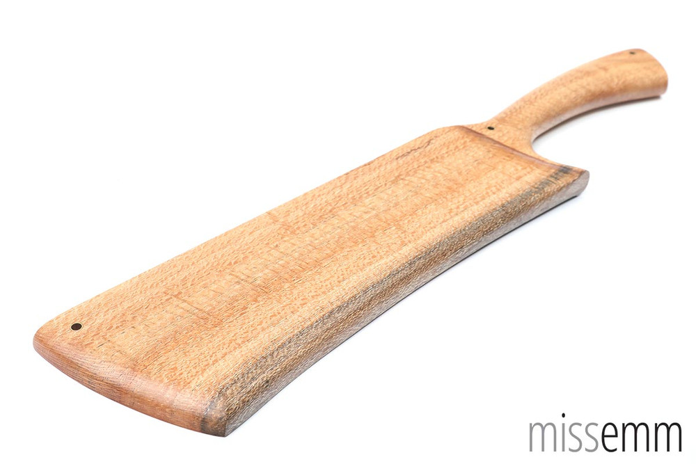 Spanking paddle - cleaver style - Silky Oak