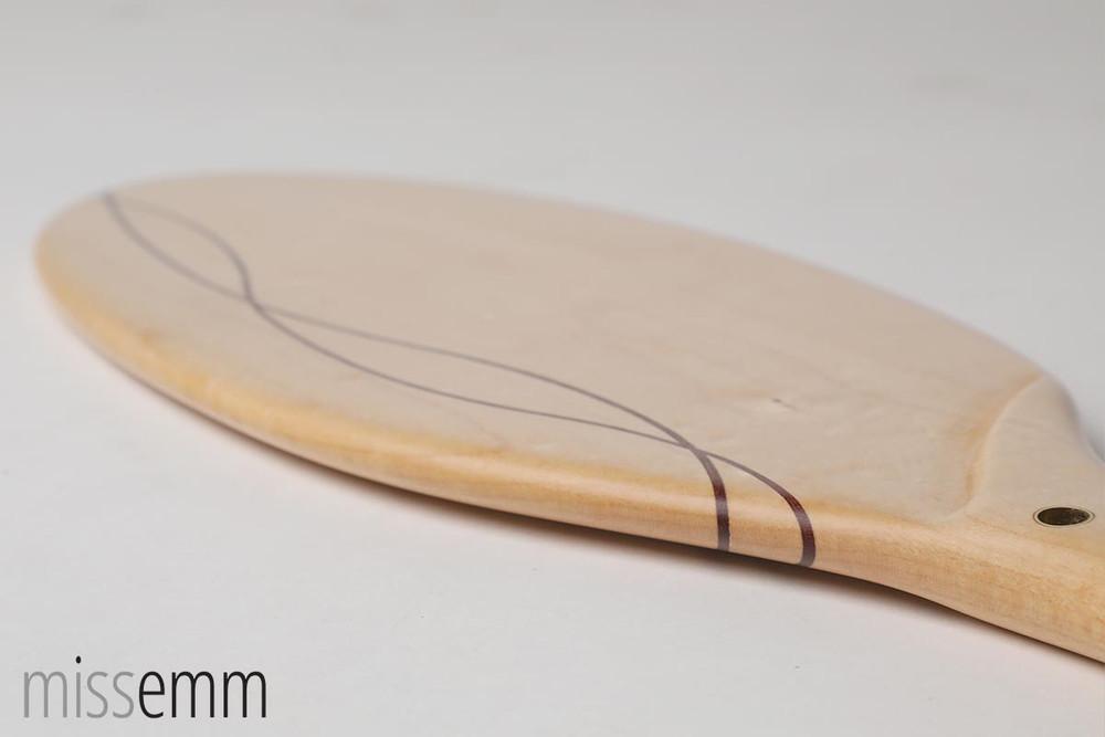 Wood oval shape spanking paddle - Rock Maple & Jarrah