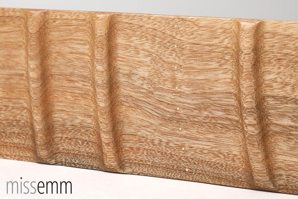 Wood Spanking Paddle with ridges - Camphor Laurel
