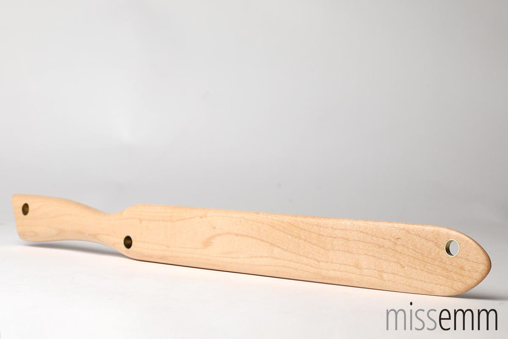 A side view of the Rock Maple paddle.