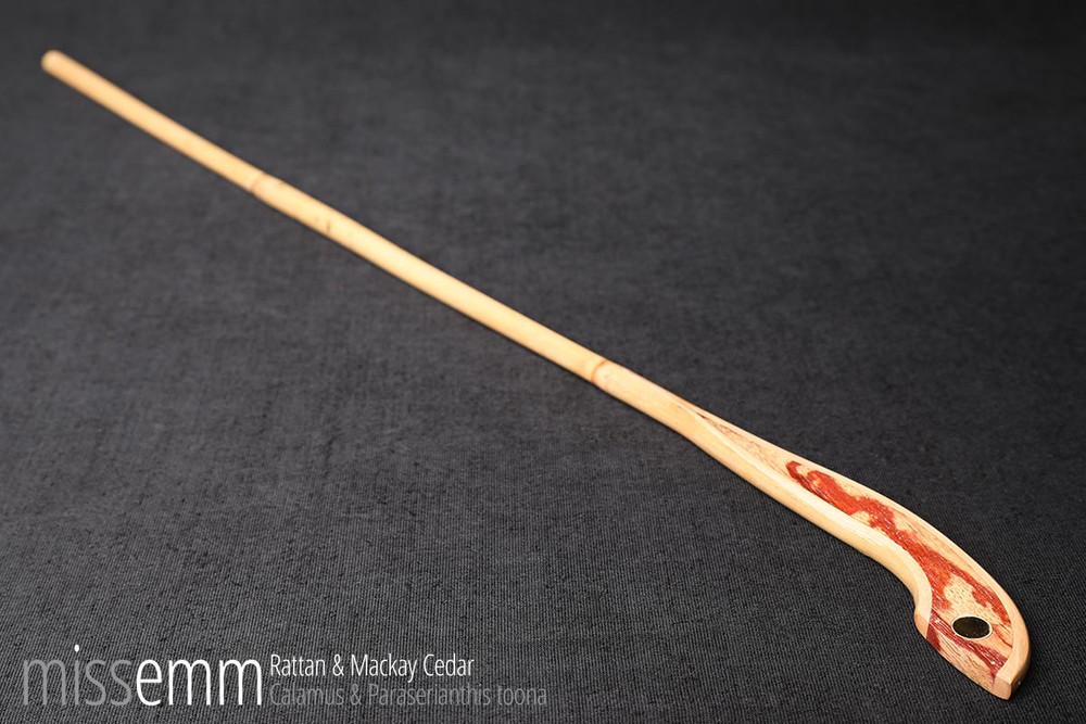 BDSM spanking cane | rattan and Mackay Cedar | by Sydney fetish artisan Miss Emm