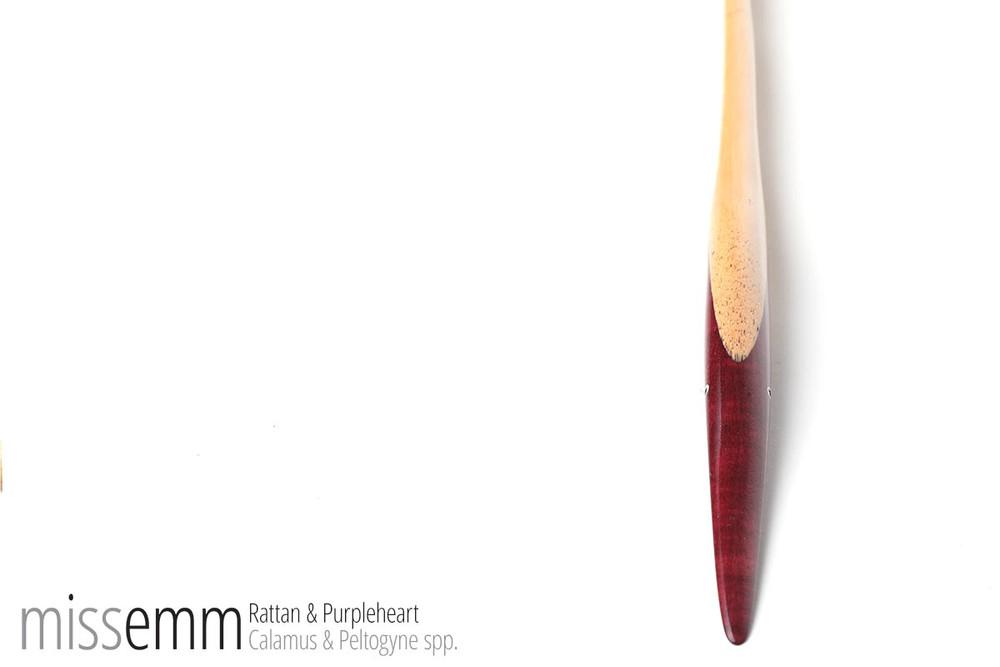 Rattan & Purpleheart pane (flat cane) by fetish artisan Miss Emm