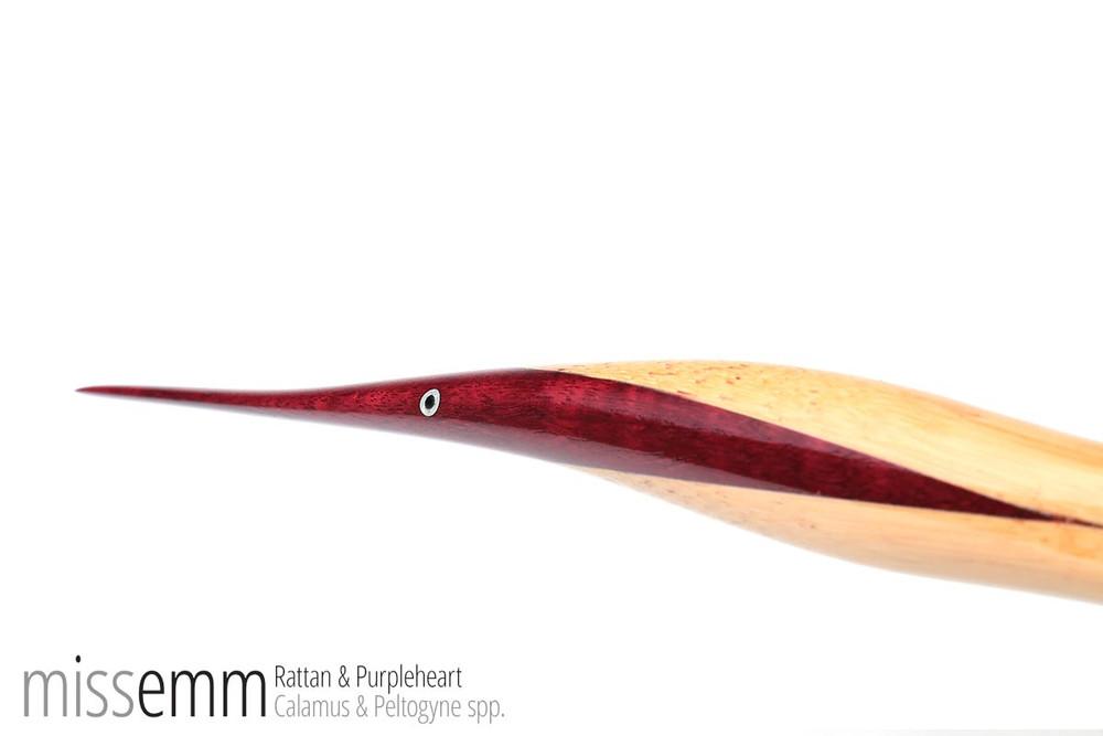 Pane (Flat Cane) - Rattan & Purpleheart - 810mm x 20mm