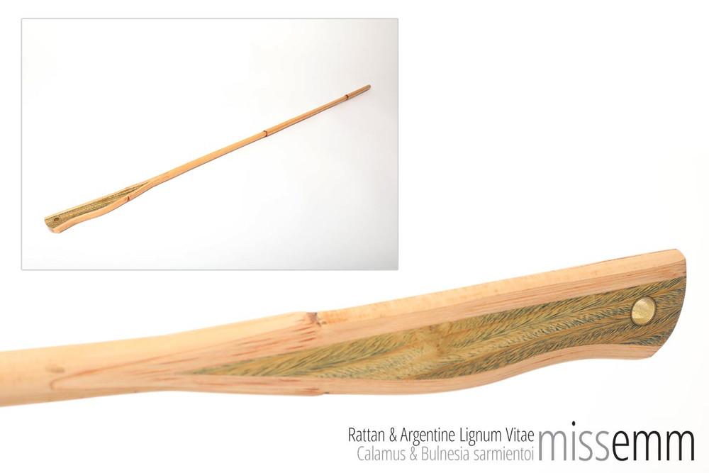 BDSM Fetish Toy | Rattan Cane with Argentine Lignum Vitae handle | by Sydney kink artisan Miss Emm