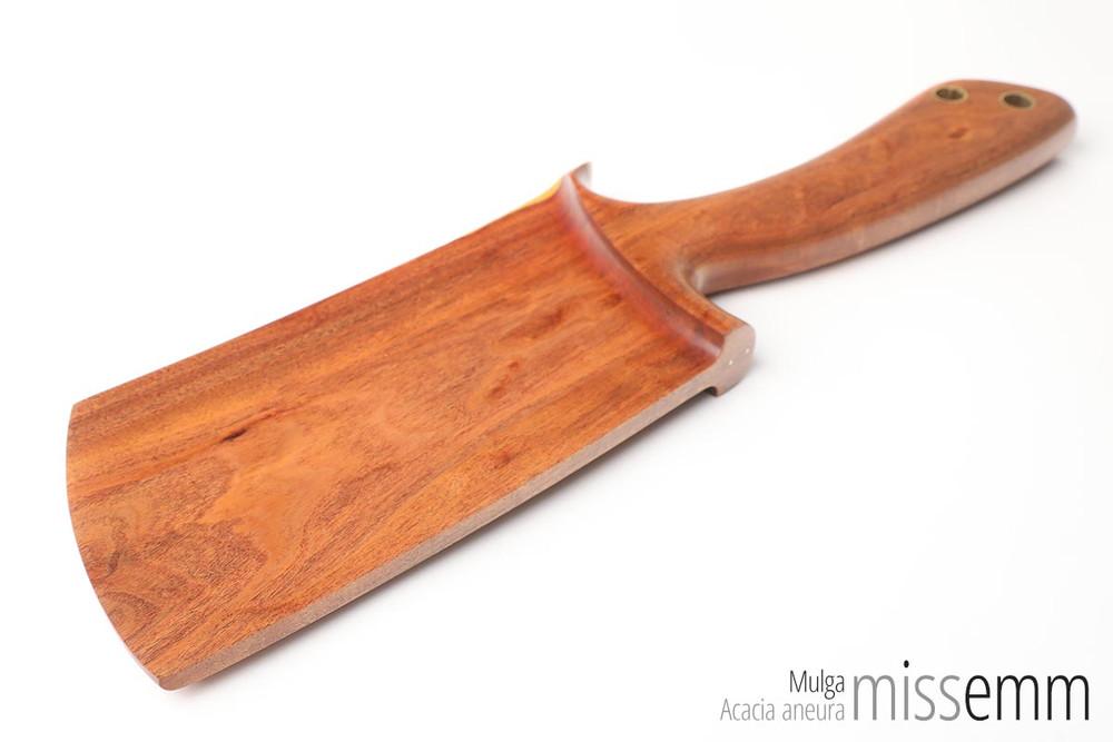Unique BDSM Toys   Mulga OTK Paddle   Handcrafted by Australian kink artisan Miss Emm
