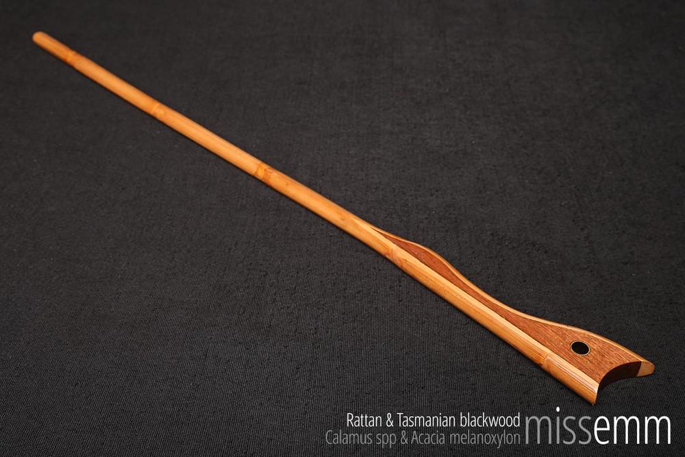 Handcrafted fetish toys | Rattan bdsm spanking cane with Tasmanian blackwood handle | By kink artisan Miss Emm.