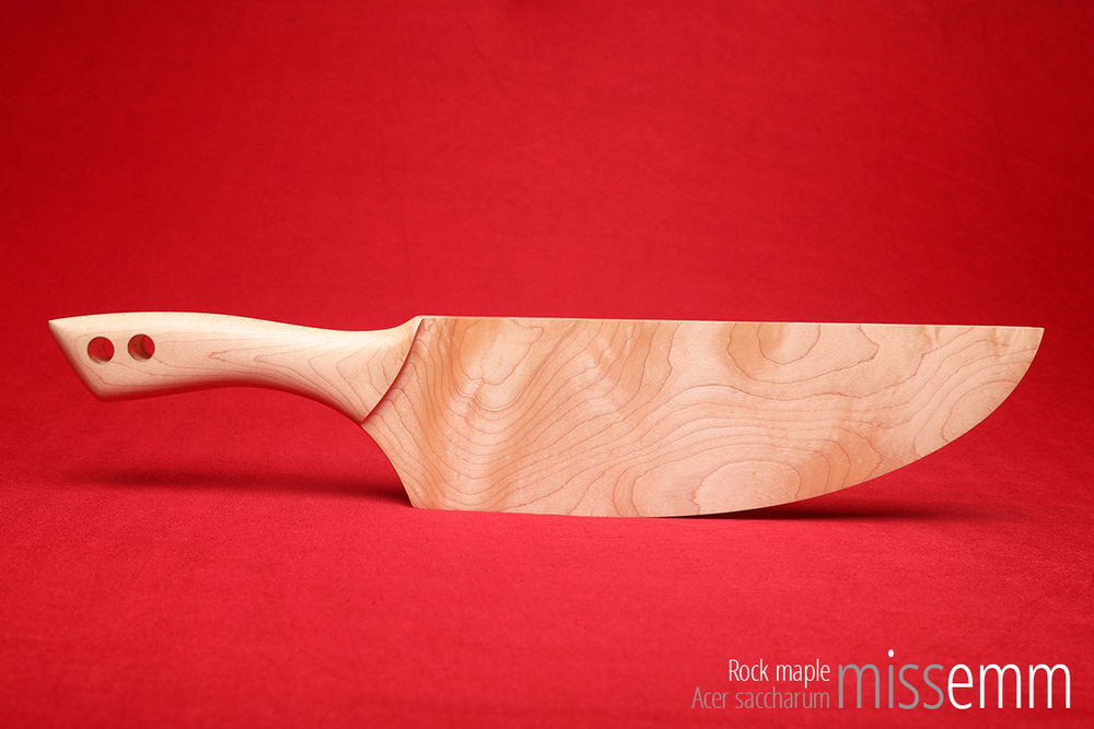 BDSM Spanking Paddle - Rock Maple - 525mm, 510gm