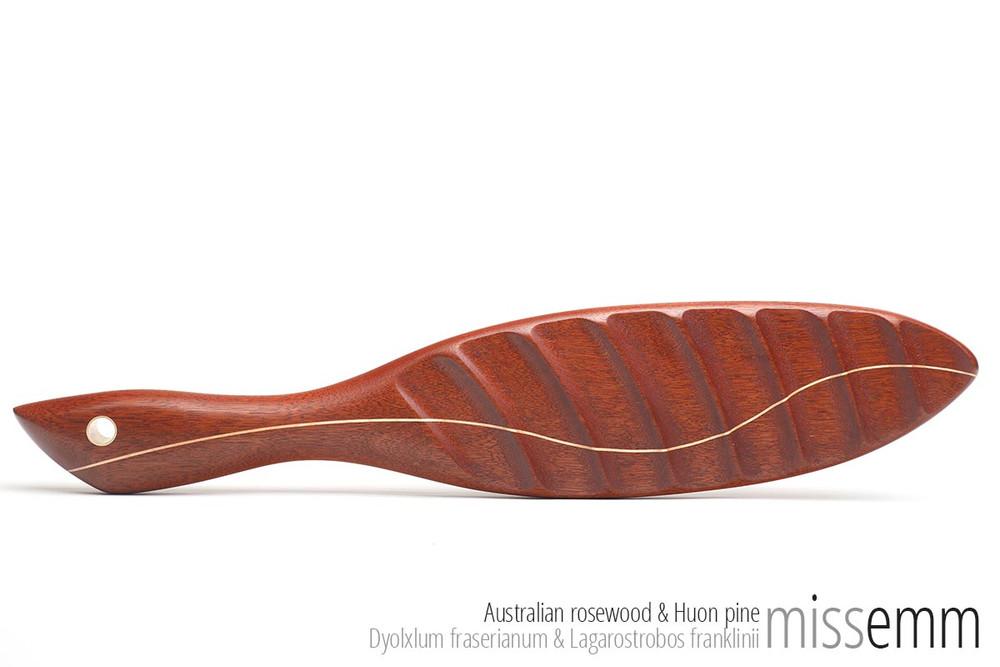 Ridged Spanking Paddle - Aus Rosewood & Huon Pine- 505mm, 575gm