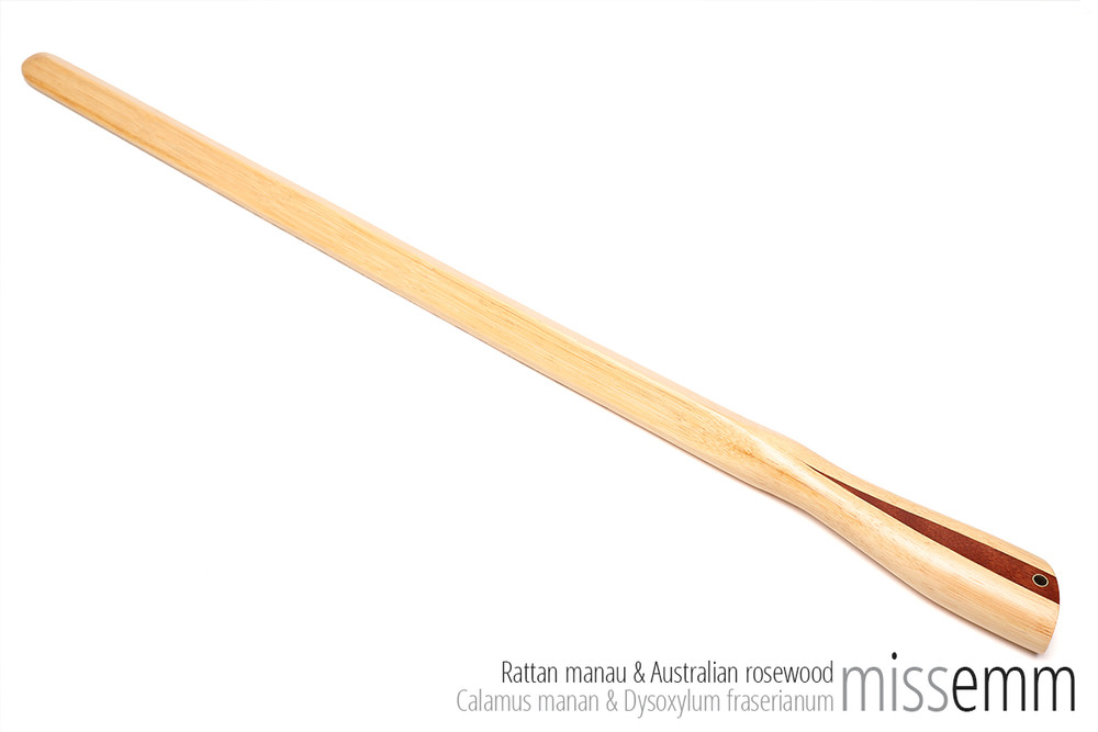 Handmade bdsm spanking toys   Pane (flat cane)   By Sydney kink artisan Miss Emm   Made from rattan with a Australian rosewood handle and brass details, this unique impact toy is the perfect dungeon accessory for the sensual sadist, hard core disciplinarian, Mistress, Master, or anyone who just loves their impact play.