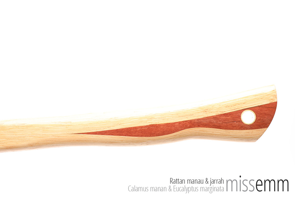 Handmade bdsm spanking toys | Pane (flat cane) | By Sydney kink artisan Miss Emm | Made from rattan with a jarrah handle and brass details, this unique impact toy is the perfect dungeon accessory for the sensual sadist, hard core disciplinarian, Mistress, Master, sub, slave, kinkster, or anyone who just loves their impact play.