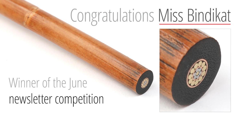 Newsletter Competition Winner - Miss Bindikat