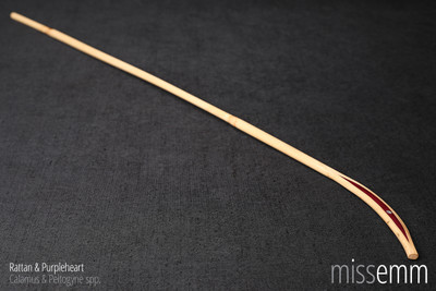 BDSM discipline cane | Rattan and Purpleheart | by Sydney fetish artisan Miss Emm