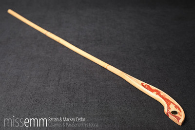 BDSM spanking cane | rattan and Mackay Cedar | by Sydney fetish artisan Miss Emm