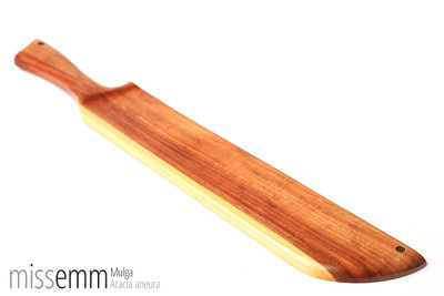 Handmade BDSM Kink Toys | Wood Spanking Paddle | by kink artisan woodworker Miss Emm.