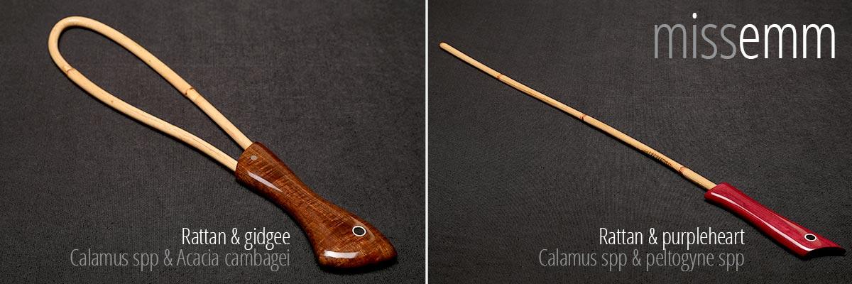 Rattan discipline loop cane and discipline cane
