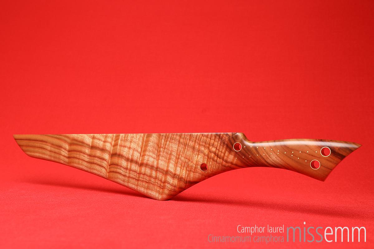 Camphor laurel spanking paddle created by Sydney fetish artisan Miss Emm