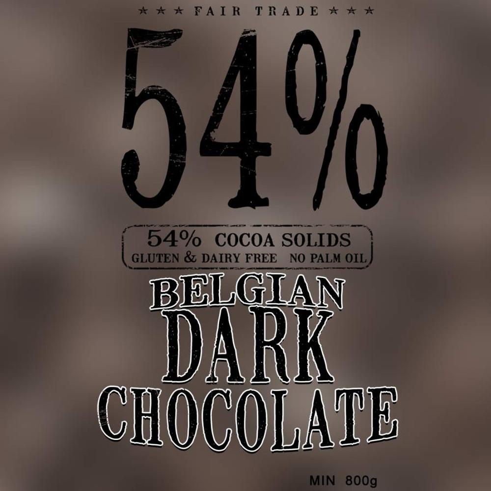 54%  Dark chocolate callets (800g)
