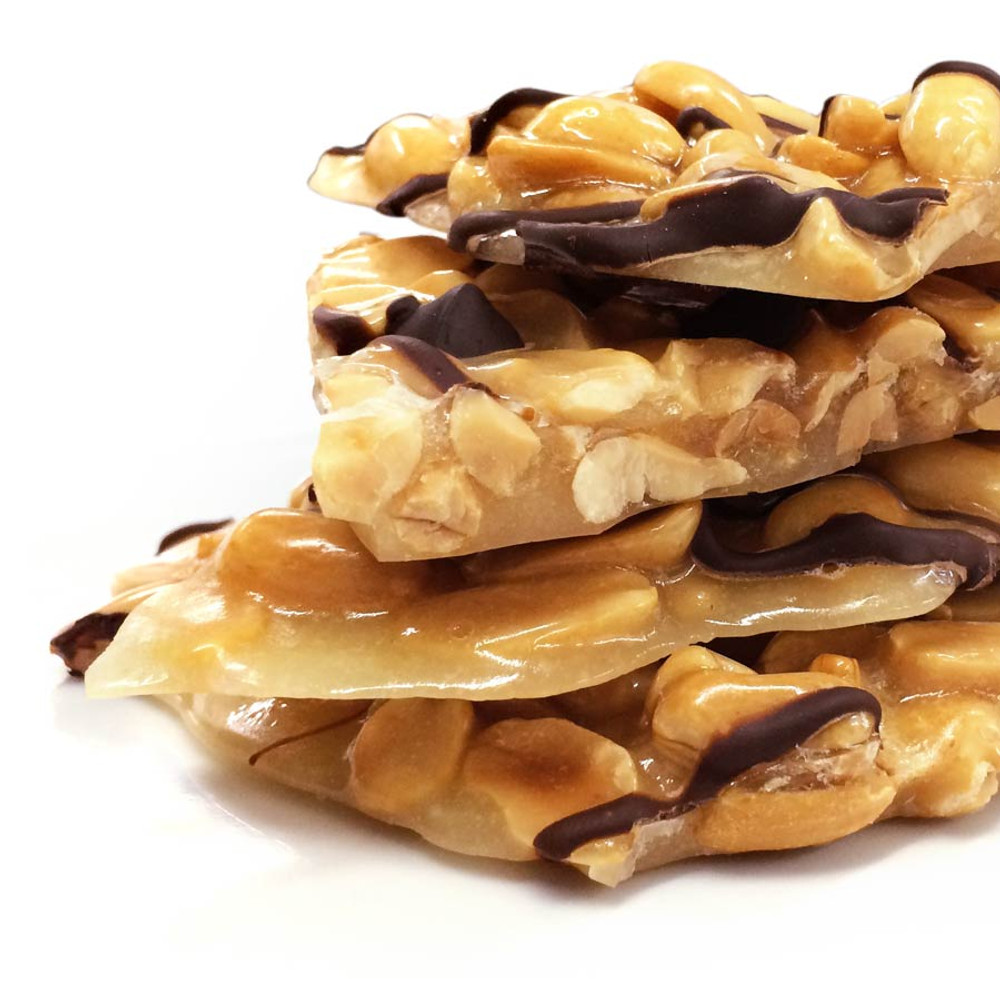 Peanut Brittle with dark chocolate