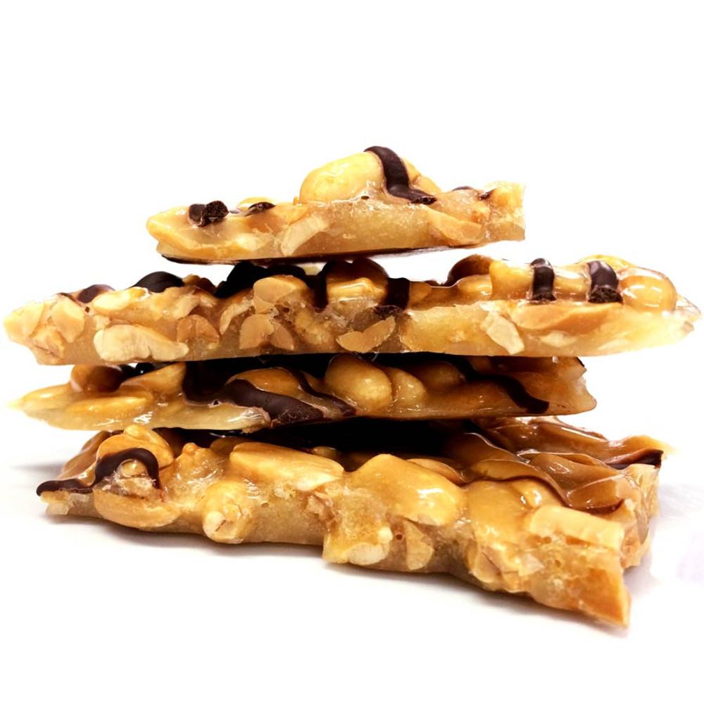 Peanut Brittle with dark chocolate