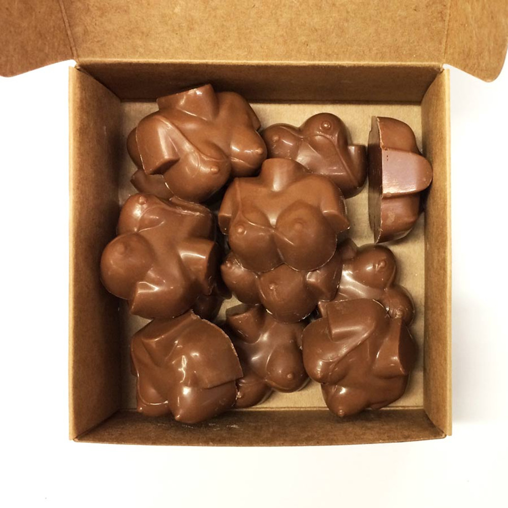 Box full'o Boobies in Milk chocolate