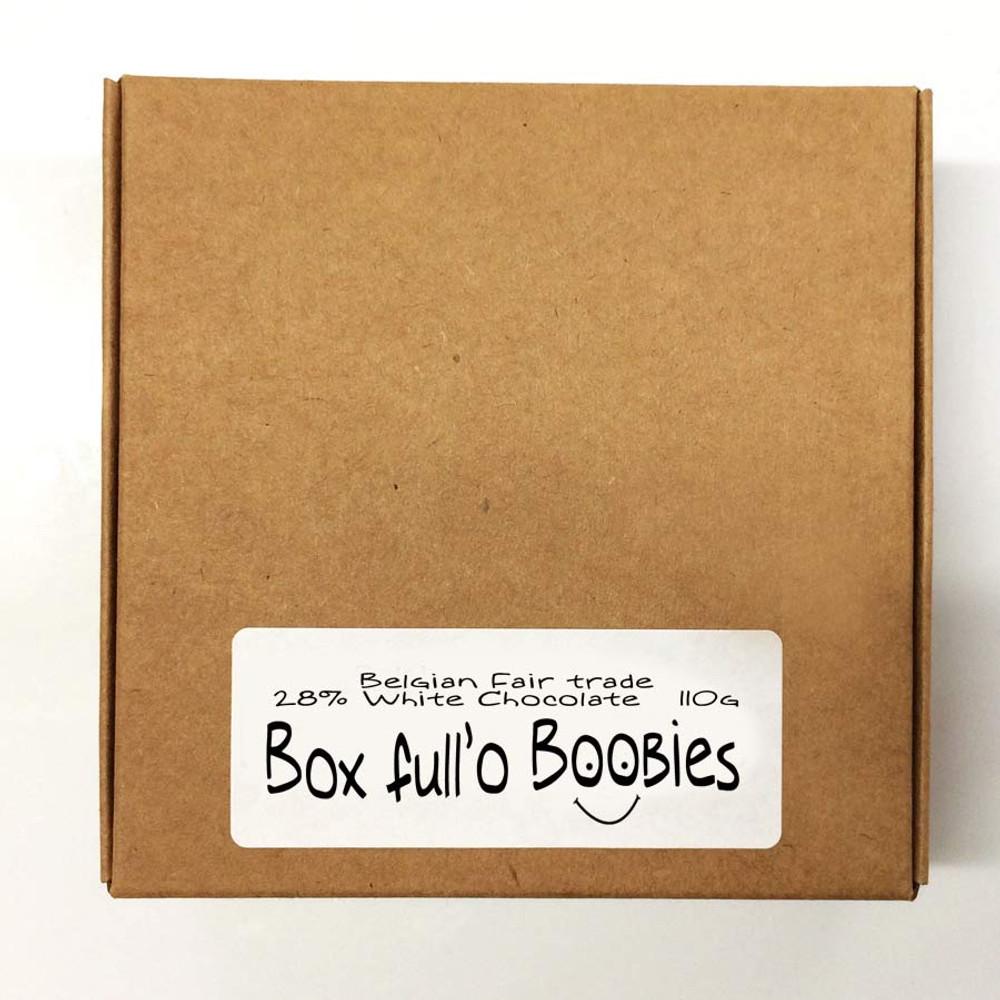 Box full'o Boobies in White chocolate