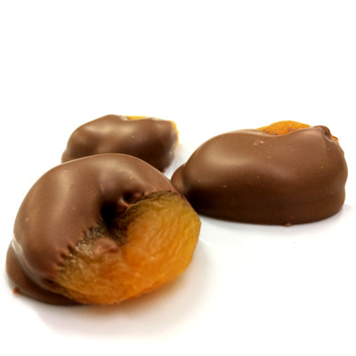 Apricots Dipped in Milk Chocolate