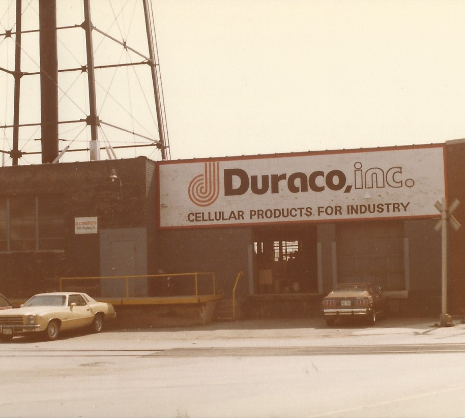 vintage photo of the Duraco building