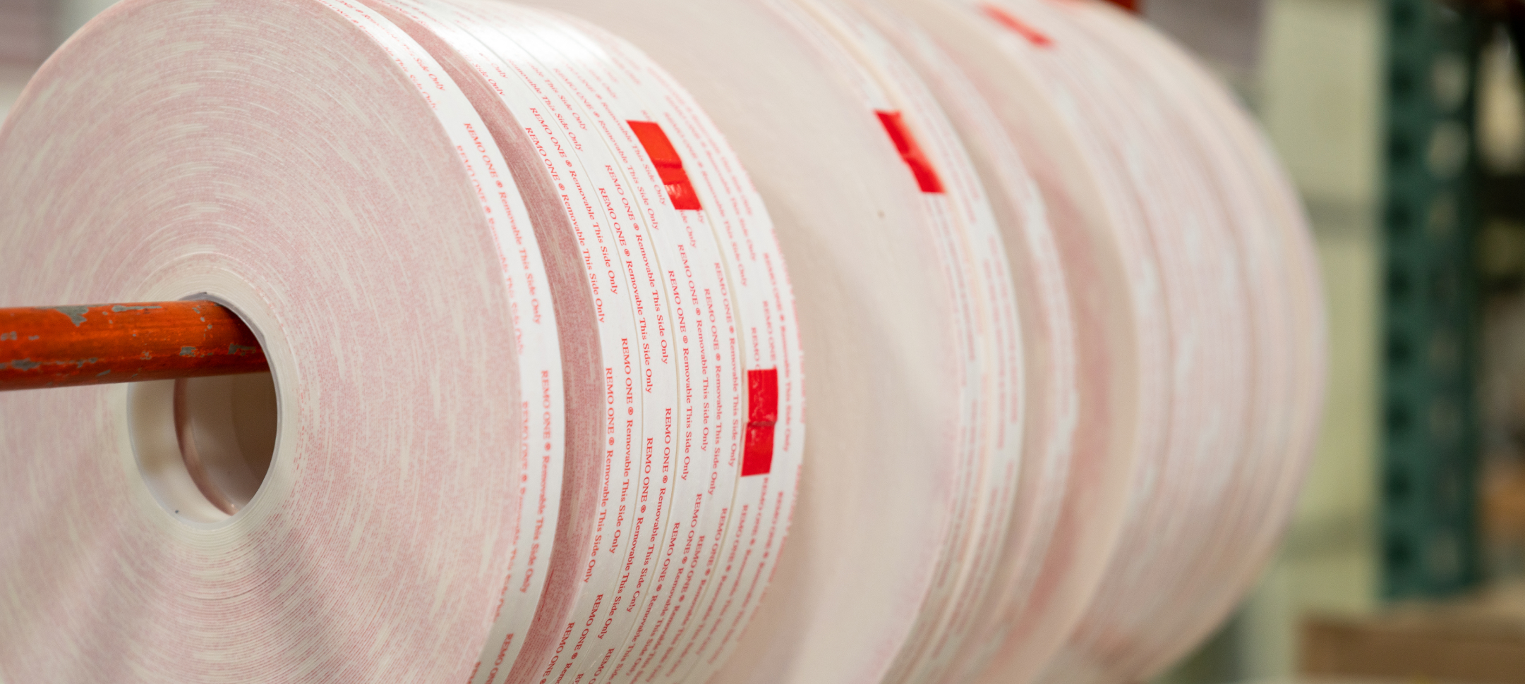 Close up, production of film tape