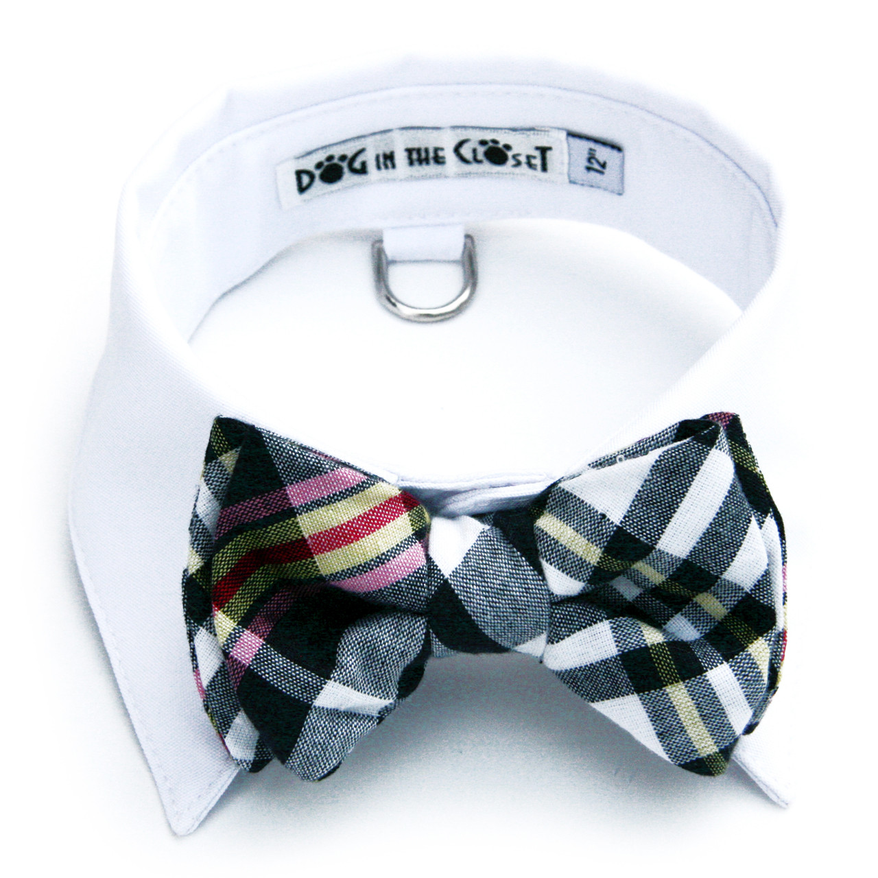 4ab2231f9bf0 White Dog Shirt Collar with Royal Blue Bow Tie