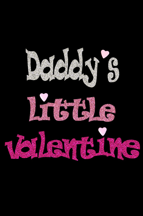 Daddy's Little Valentine Rhinestone dog tank for large and small dogs.