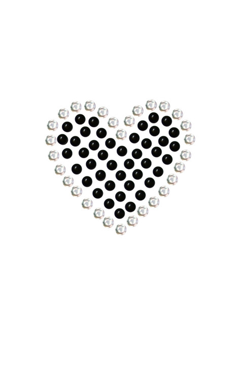 Black Rhinestone Heart dog tank for large and small dogs.