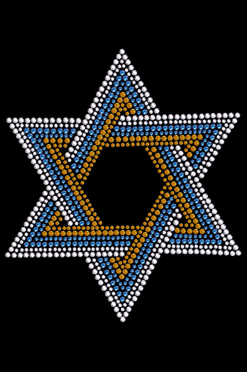 Star of David (Large - Blue, Silver, & Gold) Tutu