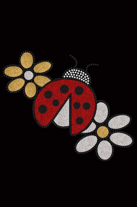 Glitter Ladybug & Daisies - Bandanna