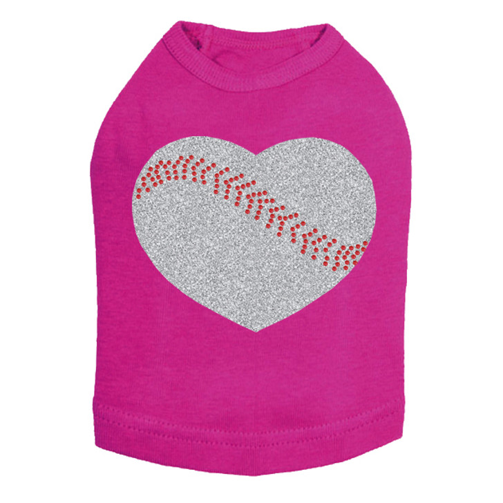 Baseball Heart - Dog Tank