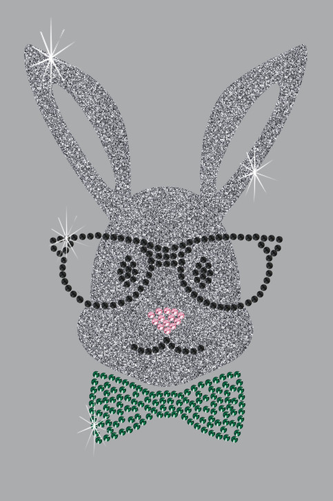 Bunny with Glasses and Bow Tie - Bandanna