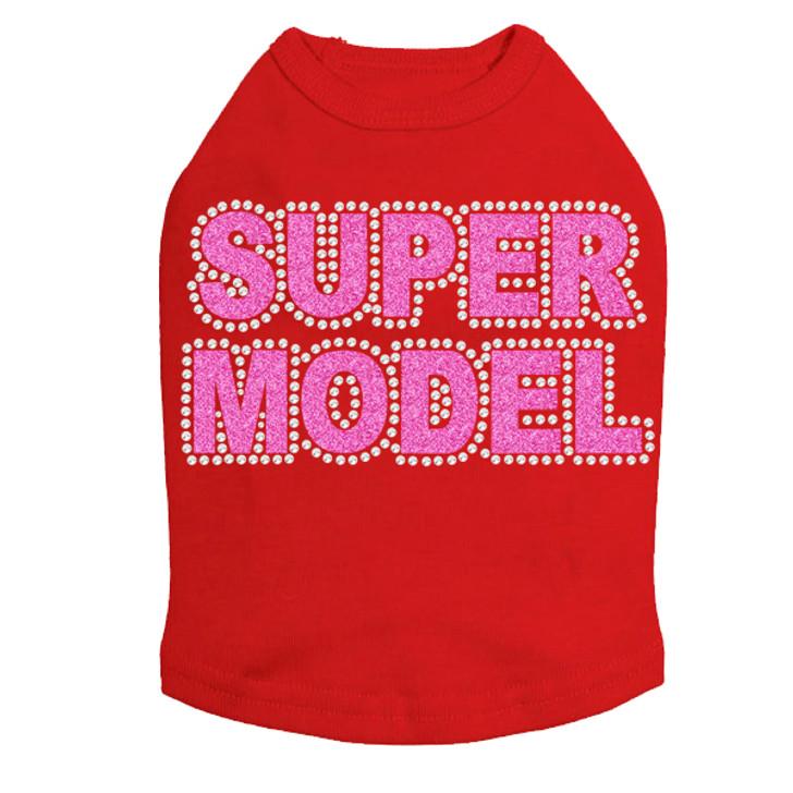 Super Model  (Pink)- Dog Tank