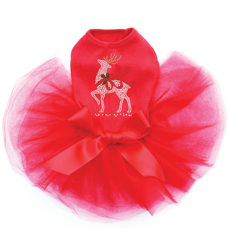 Reindeer with Red Bow - Red Tutu