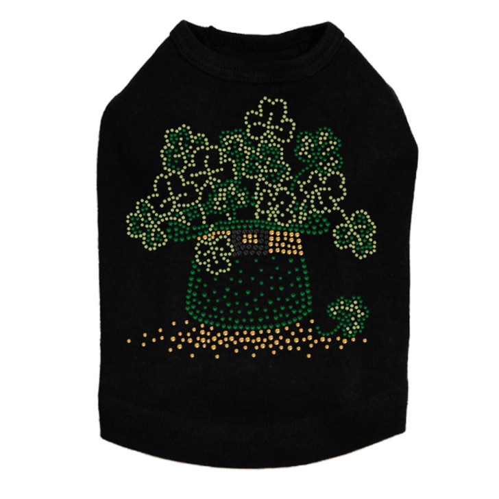 Shamrocks in Hat - Dog Tank