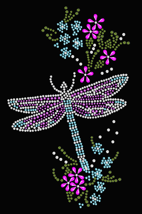 Dragonfly with Flowers - Women's Tee