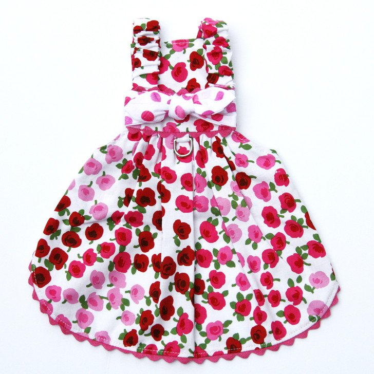 The Emma Pink & Red Flower Dress