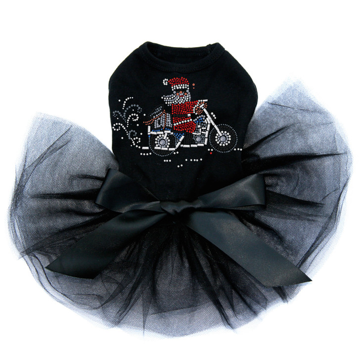 Santa on Motorcycle - Tutu