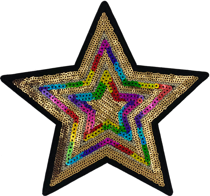 Large Sequin Star - Patch