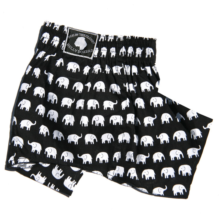 Designed to protect furniture and walls from territorial marking.  Belly Boxers are a more fashionable choice for dogs used to wearing old fashion belly bands.  Shorts are designed with a pouch for inserting a feminine pad.  These are also available as regular Boxer Shorts.