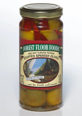 Forest Floor Foods 8 oz. Red Hot Turkish Pepper Stuffed Queen Olives