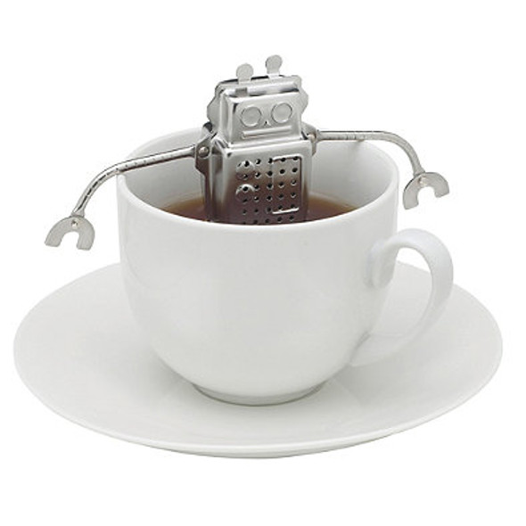 Stainless Steel Hangin' Dunkin' Monkey Tea Infuser with Drip Tray