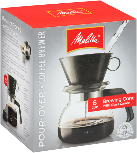 Melitta® Pour Over 6-Cup Coffee Maker with Glass Carafe